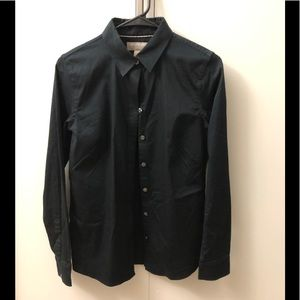 Non-iron black shirt-professional and chic